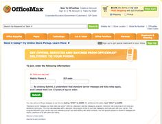 OfficeMax - Text messaging landing page