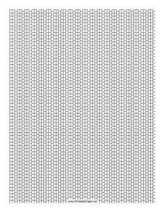 This 2-1 Cylinder Bead Peyote Pattern beadwork layout graph paper features cylindrical beads in an alternating two-row and single-row peyote pattern. Free to download and print