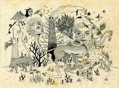 Grotesque Flora and Fauna by Jon MacNair