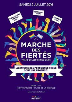 La Marche des Fiertés LGBT dévoile son affiche 2016   Fugues