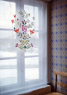 """""""Oda"""" curtain in cotton – Theme Norway – GUDRUN SJÖDÉN – Webshop, mail order and boutiques 