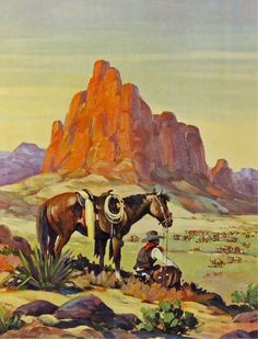 Till Goodan Cowboy Print or Lithograph,