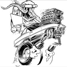 1222 best cool car stuff etc images cool cars street rods 55 GMC Rat Rod hot rod monster art hot rod monster drawing monster tech or