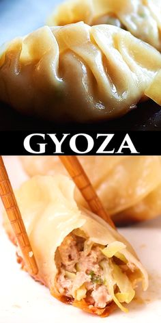 Gyoza are Japanese dumplings filled with moist and juicy ground pork and vegetables, steamed and pan-fried to crispy golden brown on the bottom.