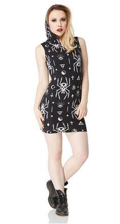 Spider Bodycon Dress