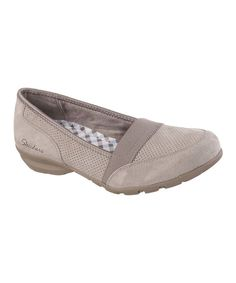 Look at this Skechers Taupe Relaxed Fit® Career Executive Suede Loafer on #zulily today!