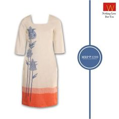 Byzantine prints on subtle, cool shades of #orange makes for a #dynamic blend. Adorn this kurta for the perfect summery look!