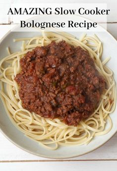 The most AMAZING Slow Cooker bolognese recipe EVER! - The Diary of a Frugal Family