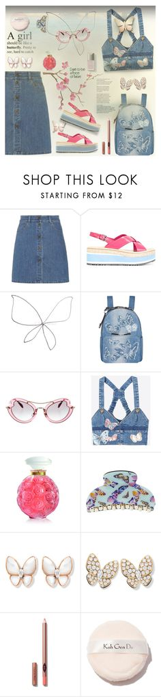 """""""Butterflies 👐🏻👐🏻👐🏻👐🏻💕💋"""" by selmendonca ❤ liked on Polyvore featuring Miu Miu, Prada, Valentino, Lalique and Accessorize"""