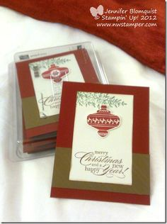 stampin up convention 2013 christmas swap card - Jennifer Blomquist