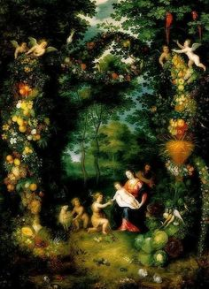 Jan Brueghel the Younger. The Holy Family with St John