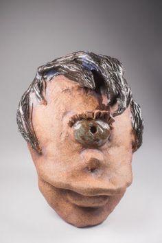 Leela handmade ceramic mask from Futurama OOK