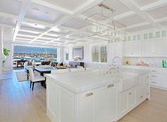 """Same beach house, another view. Kitchen Island. Kitchen island dimensions were described as 12'6"""" long by 36"""" wide."""