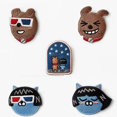 Kakao Friends Official Goods Embroidery Wappen Badge Neo Frodo Accessories #KakaoFriends