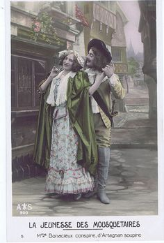 AntiquePostcard.retro.Paris.french.rare.scrap by studioflowerpower, $5.00