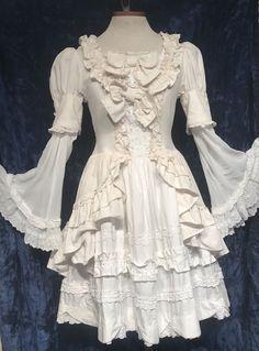 BABY,THE STARS SHINE BRIGHT Off White Dress MINI Victorian LOLITA Tiered Ruffles   eBay