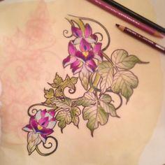 Kudzu drawing by Shiloah Reina at Damask Tattoo
