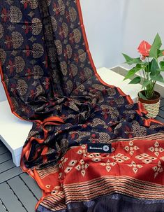 Cotton Saree, Cotton Silk, Printed Cotton, Elegant Fashion Wear, Trendy Fashion, Womens Fashion, Silk Sarees Online, Printed Blouse, Fancy