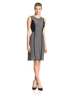 Calvin Klein Women's Sleeveless Striped Sweater Dress -- You can find more details by visiting the image link.