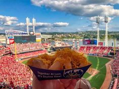 Wish we were here 👇 Throwback to 2019. Good luck to the Cincinnati Reds tonight! 📷: Instagram user rachel_suding Cincinnati Reds, Baseball Field, Instagram Users, Fun, Baseball Park, Lol, Funny