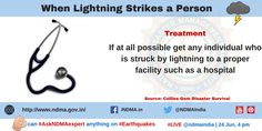 If any person gets injured due to lightning, take him to the hospital. Lightning Safety, Lightning Strikes, Thunderstorms, Management, Author, Education, Lightning Storms, Storms, Writers