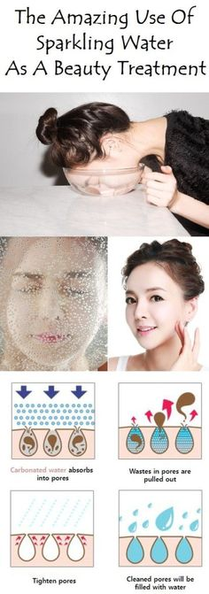 Washing Your Face With Sparkling Water Will Make your Skin Glow, Clear and Smooth!