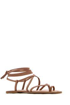 Sandalia romana de piel