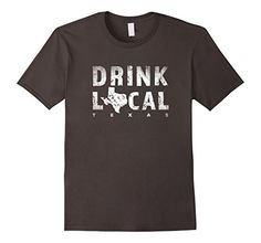Mens Drink Local Texas Beer Distressed T-Shirt 2XL Asphal...