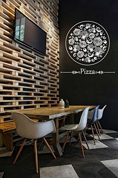 ik1068 Wall Decal Sticker Pizza Italian Restaurant Pizzeria StickersForLife…