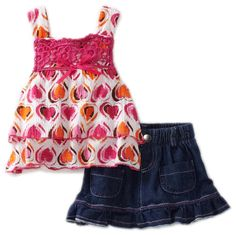 Little Lass Baby-Girls Infant 2 Piece Scooter Heart Shirt Set