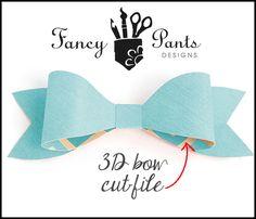 FREE SVG STUDIO 3D DIY bow Fancy Pants Designs Studio
