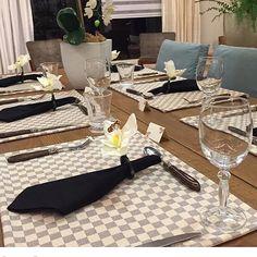 Inspiração linda da mesa de Dia dos Pais by @namesa_ #diadospais #mesaposta #mesadospais #gravata #casinhachique #dicacasinhachique #inspiração