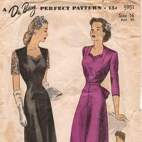 ~Collection of over 85,000 Vintage patterns. ~Cocktail Dresses