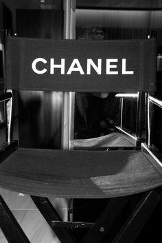 Black Chanel Directors Chair