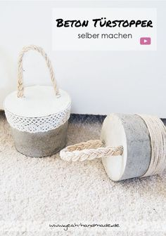 These look like some sort of doorstop. Concrete Crafts, Concrete Projects, Diy Videos, Diy Doorstop, Africa Craft, Beton Diy, Outdoor Crafts, Cool Diy Projects, Handmade Home Decor