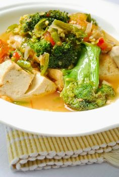 Spicy broccoli and beancurd recipe