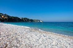 White beach in Isle of Elba, Livorno, Italy. Stock Photo