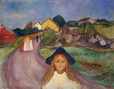 Edvard Munch, (Norwegian, 1863-1943) - Street in Asgardstrand