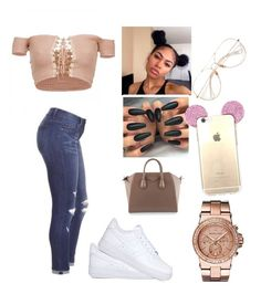 """""""Untitled #646"""" by kayykayy15 on Polyvore featuring Michael Kors, NIKE and Givenchy"""