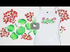 Pintura en Tela Geranios *Paint on Fabric* Camisetas Personalizadas Pintar Tela DIY Pintura Facil - En este video de pintura en tela pintamos camisetas personalizadas con geranios con una técnica DIY facilísima!! VIDEO NUEVO: MARTES Y JUEVES | http://diycraftstutorials.blogspot.com