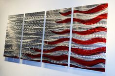 Flag projects on pinterest american flag flags and abstract for Painted american flag wall art