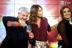 """Pino Insegno e Paola Perego conducono """"Domenica in"""" su Rai 1 (2014) #domenicain #paolaperego #pinoinsegno"""