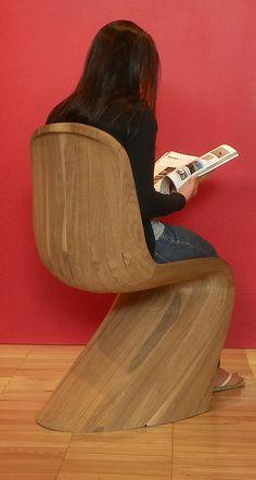 Black Walnut Panton Chair by Matthew Marcarelli, via Behance