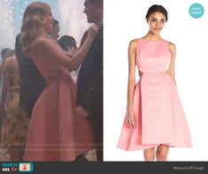 Betty's pink fit and flare dress with cutouts sides on Riverdale. Outfit Details: https://wornontv.net/64912/ #Riverdale