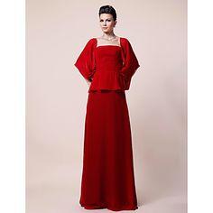 Sheath/Column Square Floor-length Chiffon Evening/Mother of the Bride Dress Dress  – USD $ 149.99