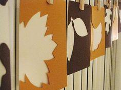 Fall Leaf Cutouts - Yellow Mums