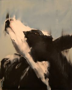 """this is a cow called """"Madeline"""" that I painted. http://www.facebook.com/ElsaSrokaFineArt"""