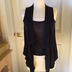 Michael Kors layered knit top Super cute navy blue and white layered look top by Michael Kors. Sleeveless. All the layers are attached. Worn a handful of times. Excellent condition. Michael Kors Tops Tank Tops
