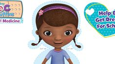 A special Doc's School of Medicine paper doll for the kids! #DocMcStuffins