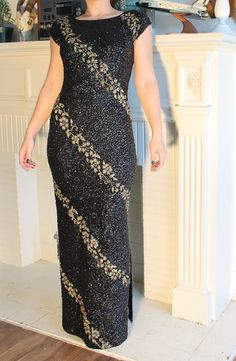 b4acf101d2 1960s Designer Couture Trophy Dress Gene Shelly Boutique Internationale  Vintage Couture